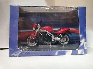 1:24 Maquette Triumph 955 Vitesse Triple Rouge Moto Superbike Miniature Atlas