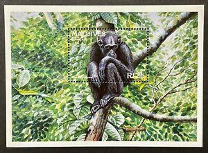 MALDIVES CHIMPANZEE STAMPS 1996 MNH WILD ANIMALS WILDLIFE FAUNA MONKEY PRIMATE