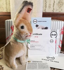 MINT IN BOX Limited Edition Steiff Bunny Rabbit 1931 Replica, with Tags, Germany