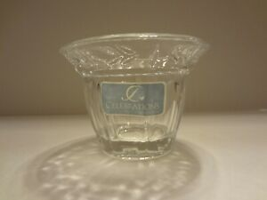 Celebrations by Mikasa Lead Crystal Flower Votive Candle Holder New