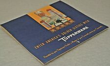 VTG Tupperware Calendar 1960 Retro Pictures Prices Sales Party Plan Gold Key