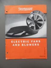 1940 Sturtevant Electric Fans Blowers Vacuum Cleaners Catalog Brochure Vintage