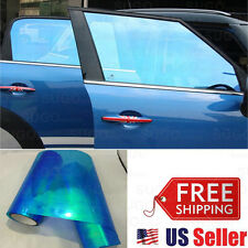 "48""x12"" Chameleon Neo Blue Color Headlamp Taillamp Foglamp Tint Film Wrap Roll"