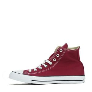 Converse Chuck Taylor All Star Hi Unisex Trainers Shoes Maroon UK 9