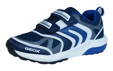 Chaussures grises avec attache auto-agrippant en cuir pour garçon de 2 à 16 ans