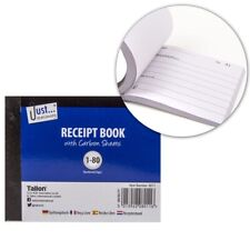 HALF SIZE RECEIPT BOOK Small Invoice Duplicate Pad 80 Pages Carbon Copy Sheets