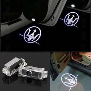 2x Laser LED Door Maserati Puddle Courtesy Projector Shadow Light Lamp Logo New