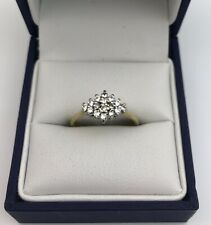 Stunning 18ct Gold & Diamond Cluster Ring Size L