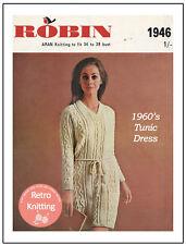 1960s Aran Tunic Dress Knitting Pattern - Copy