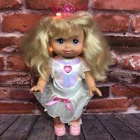 """Vintage Starbrite Sparkles Light Up Doll Mattel 1991 16"""" Original Outfit Shoes"""