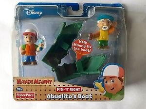 Handy Manny Fix-It-Right Action Figure Pair Abuelito's Boat Disney
