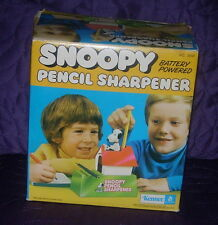 Kenner Snoopy Pencil Sharpener 1974 Boxed Peanuts
