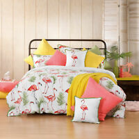 Bianca Flamingo Quilt Cover Set Melon