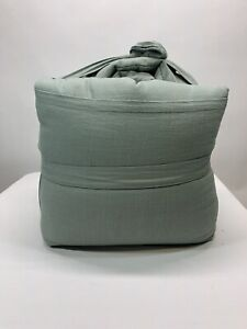 NEW King Heavyweight Linen Blend Comforter & Sham Set Sage Green - Casaluna!!!