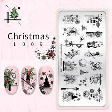 Born Pretty Animal Patrón Stamping Placa Flor Nail Art imagen Sello de la plantilla
