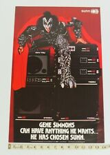 KISS GENE SIMMONS SUNN AMP PROMOTIONAL POSTER 1979