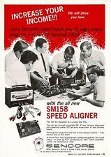 1970 Sencore SM158 Speed Aligner TV Test Equipment Vtg Print Ad