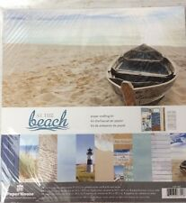 """Paper House AT THE BEACH Scrapbooking Papercrafting 12""""x12"""" Kit"""