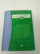 Saxon Math 7/6 Student Edition (Good Used Condition ) Hardcover