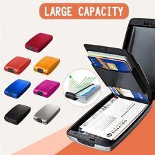 RFID Secure Cash and Bank Card Holder Blocking Hard Case Wallet Credit Card