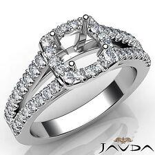 Halo Prong Diamond Stunning Engagement Platinum 950 Round Semi Mount Ring 0.75Ct