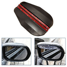 2x Car Rear View Wing Mirror Sun Visor Shield Rain Board Eyebrow Guard Black
