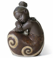 Lladro Porcelain Gres Finish : African Girl 01012508