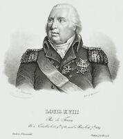 DESMARETS; DUCARME, Porträt des König Louis XVIII, Lithographie