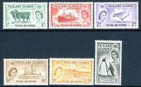 FALKLAND ISLANDS-1955-57 Set of 6 Values Sg 187-192 LIGHTLY MOUNTED MINT V16532
