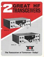 Ten-Tec 540 & 544 Dealer Advertising Brochure