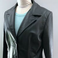 Vintage Wilsons Leather Women Black Leather Maxima Jacket Size L