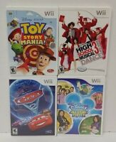 Nintendo Wii Wii U Games Disney Cars 2, Toy Story, All Star Party, High School 3