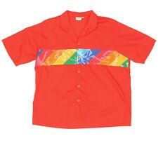Vintage Totally 1980s ENDLESS SUMMER Hawaiian Surf Beach Mens Red Shirt - XL