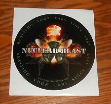 Nuclear Blast Sticker Circle Decal Promo 5""