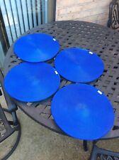 """Set of 4 Cobalt Blue Deborah Rhodes Woven Placemats 14.75"""""""