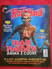 Rivista ROCKHARD 32/2015 Iron Maiden Queenryche One Machine  X Japan Satan No cd