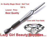 CUTICLE NAIL-PINCHER Multi Function Magic-Wand C CURVE Acrylic Pusher Tweezer