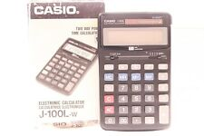 CASIO J-100L  CALCULATOR TWO WAY POWER  (TIME CALCULATIONS FUNCTION)