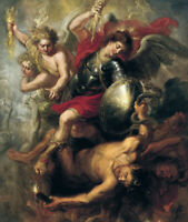 Saint Michael Expelling Lucifer And The Rebellious Angels Rubens Print CANVAS SM