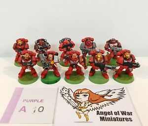 40K Space Marines Tactical Squad Multi-Part 3RD Ed. Era Blood Angels (x10) PA10