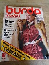 MAGAZINE BURDA VINTAGE  ROBES IMPER MANTEAUX VESTES  ETC..OCTOBRE 1979