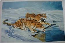 SYDNEY TAYLOR  **SIBERIAN TIGERS** COLOR LITHOGRAPH  SIGNED EDITION: 158/200
