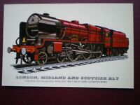 POSTCARD LMS CLASS 6P LOCO NO 6100 FORMELY 6152 'ROYAL SCOT'