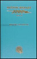 Austin Healey 3000 Mark IIII Owners Manual 1964 1965 1966 1967 Mk 3 Driver Guide