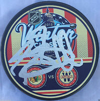 BRENT SEABROOK SIGNED 2015 WINTER CLASSIC CHICAGO BLACKHAWKS PUCK COA J1