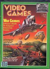 1983 Video Games Game Magazine October War Games Nintendo Atari Pong Activision