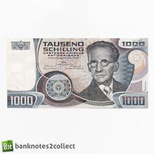 More details for austria: 1 x 1,000 austrian schilling banknote.