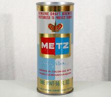 Metz Premium Beer Clean 16 Ounce Pull Tab Beer Can Walter Pueblo, Colorado Co Oz