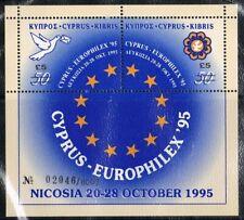 Europa Sympathy 1995 Cyprus blok 18 Europhilex '95 *ZEER SCHAARS cat waarde €450