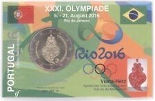 2 Euro Coincard / Infokarte Portugal 2016 Olympische Spiele Rio